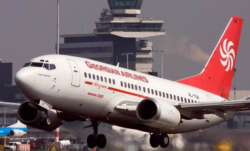 Самолет Boeing 737 грузинской авиакомпании Georian Airlines