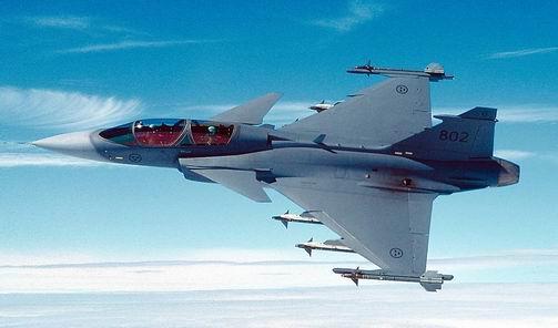 Шведский истребитель SAAB JAS 39 Gripen