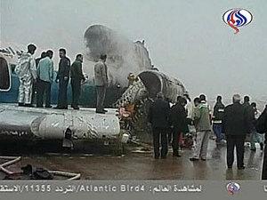 Ту-154М загррелся при посадке в Иране