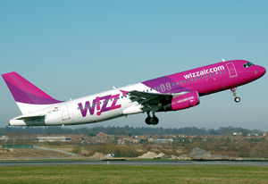 Самолет авиакомпании Wizzair Ukraine