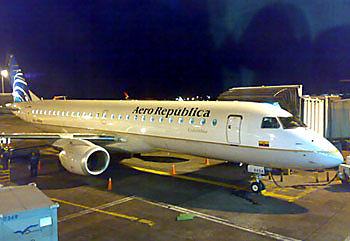 Самолет авиакомпании Aero-Republica