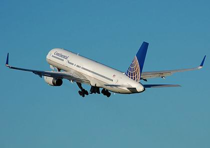 Самолет авиакомпании Continental Airlines