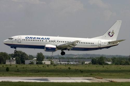 Вынужденная посадка Boeing 737 в Оренбурге